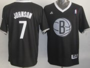 Wholesale Cheap Brooklyn Nets #7 Joe Johnson Revolution 30 Swingman 2013 Christmas Day Black Jersey