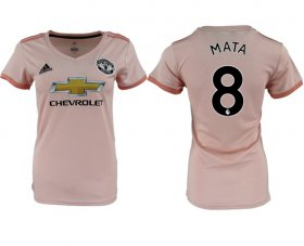 Wholesale Cheap Women\'s Manchester United #8 Mata Away Soccer Club Jersey
