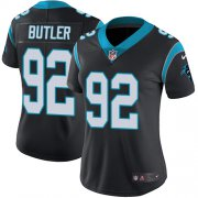 Wholesale Cheap Nike Panthers #92 Vernon Butler Black Team Color Women's Stitched NFL Vapor Untouchable Limited Jersey