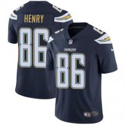 Wholesale Cheap Nike Chargers #86 Hunter Henry Navy Blue Team Color Men's Stitched NFL Vapor Untouchable Limited Jersey