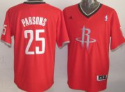 Wholesale Cheap Houston Rockets #25 Chandler Parsons Revolution 30 Swingman 2013 Christmas Day Red Jersey