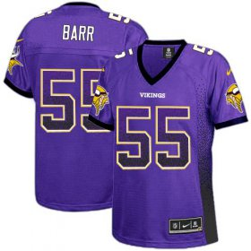 Wholesale Cheap Nike Vikings #55 Anthony Barr Purple Team Color Women\'s Stitched NFL Elite Drift Fashion Jersey