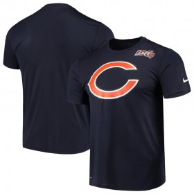 Wholesale Cheap Chicago Bears Nike Primary Logo Legend 100th Season Performance T-Shirt Navy