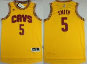 Wholesale Cheap Cleveland Cavaliers #5 J.R. Smith Revolution 30 Swingman 2014 New Yellow Jersey
