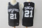 Wholesale Cheap Men's San Antonio Spurs #21 Tim Duncan Black 2017-2018 Nike Swingman Stitched NBA Jersey