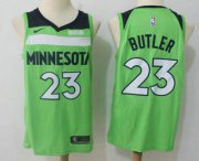 Wholesale Cheap Men's Minnesota Timberwolves #23 Jimmy Butler New Green 2017-2018 Nike Swingman Fitbit Stitched NBA Jersey
