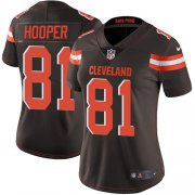 Wholesale Cheap Nike Browns #81 Austin Hooper Brown Team Color Women's Stitched NFL Vapor Untouchable Limited Jersey