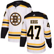Wholesale Cheap Adidas Bruins #47 Torey Krug White Road Authentic Stitched NHL Jersey