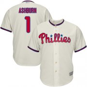Wholesale Cheap Phillies #1 Richie Ashburn Cream Cool Base Stitched Youth MLB Jersey