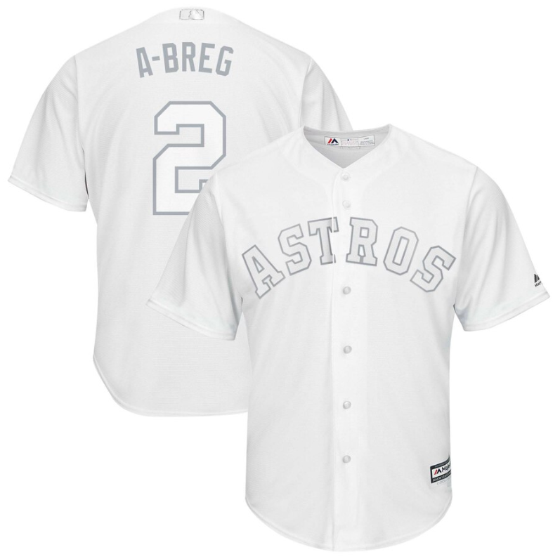 "Wholesale Cheap Astros #2 Alex Bregman White ""A-Breg"" Players Weekend Cool Base Stitched MLB Jersey"