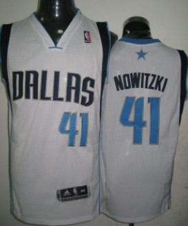 Wholesale Cheap Dallas Mavericks #41 Dirk Nowitzki White Swingman Jersey