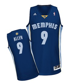 Wholesale Cheap Memphis Grizzlies #9 Tony Allen Navy Blue Swingman Jersey