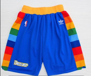 Wholesale Cheap Denver Nuggets Blue Short