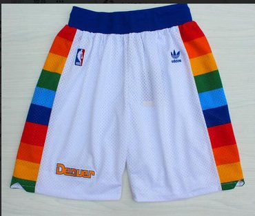 Wholesale Cheap Denver Nuggets White Short