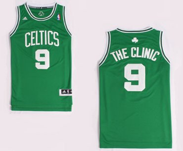 Wholesale Cheap Boston Celtics #9 The Clinic Nickname Green Swingman Jersey