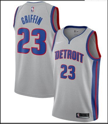 Wholesale Cheap Nike Detroit Pistons #23 Blake GriffinSilver NBA Swingman Statement Edition Jersey