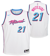 Wholesale Cheap Nike Heat #21 Hassan Whiteside White NBA Swingman City Edition Jersey