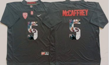 Wholesale Cheap Stanford Cardinal 5 Christian McCaffrey Black Portrait Number College Jersey