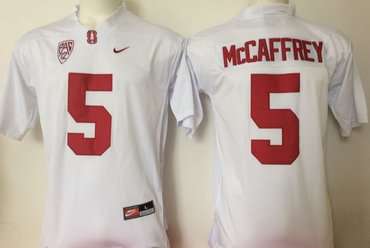 Wholesale Cheap Stanford Cardinal 5 Christian McCaffrey White College Football Jersey