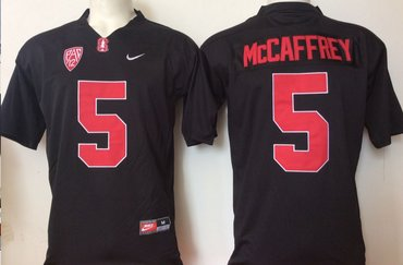 Wholesale Cheap Stanford Cardinal 5 Christian McCaffrey Black College Football Jersey