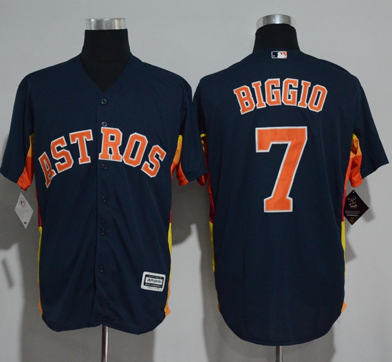 Wholesale Cheap Astros #7 Craig Biggio Navy Blue New Cool Base Stitched MLB Jersey