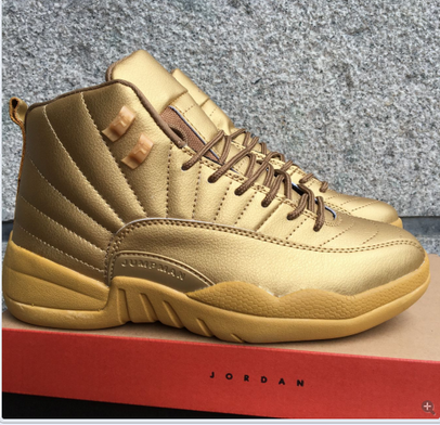 Wholesale Cheap Air Jordan 12 Retro Shoes Gold